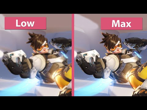 Overwatch – PC Low vs. Medium vs. Max Graphics Comparison