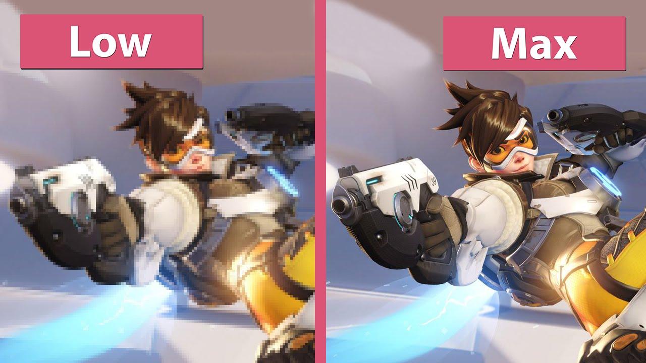 Overwatch – PC Low vs  Medium vs  Max Graphics Comparison