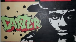 Lil Wayne Graffiti Letters & Stencil Drawing - Carter