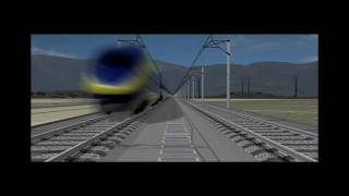 FLY California High Speed Rail - 3D Viz 03 with sound