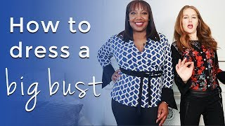 How to dress a big bust for women over 40 - how to look slimmer over 40