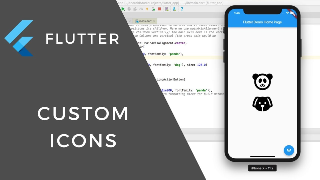 Flutter icon example
