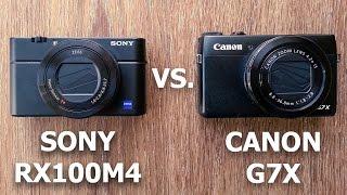 CANON G7X vs. SONY RX100M4
