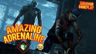 AMAZING ADRENALINE🤣 - Survivor Gameplay - Dead By Daylight