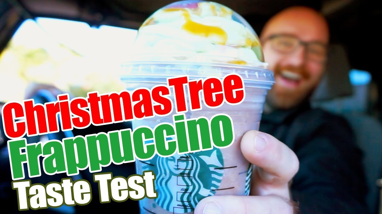 I Tried The New Starbucks Christmas Tree Frappuccino Youtube