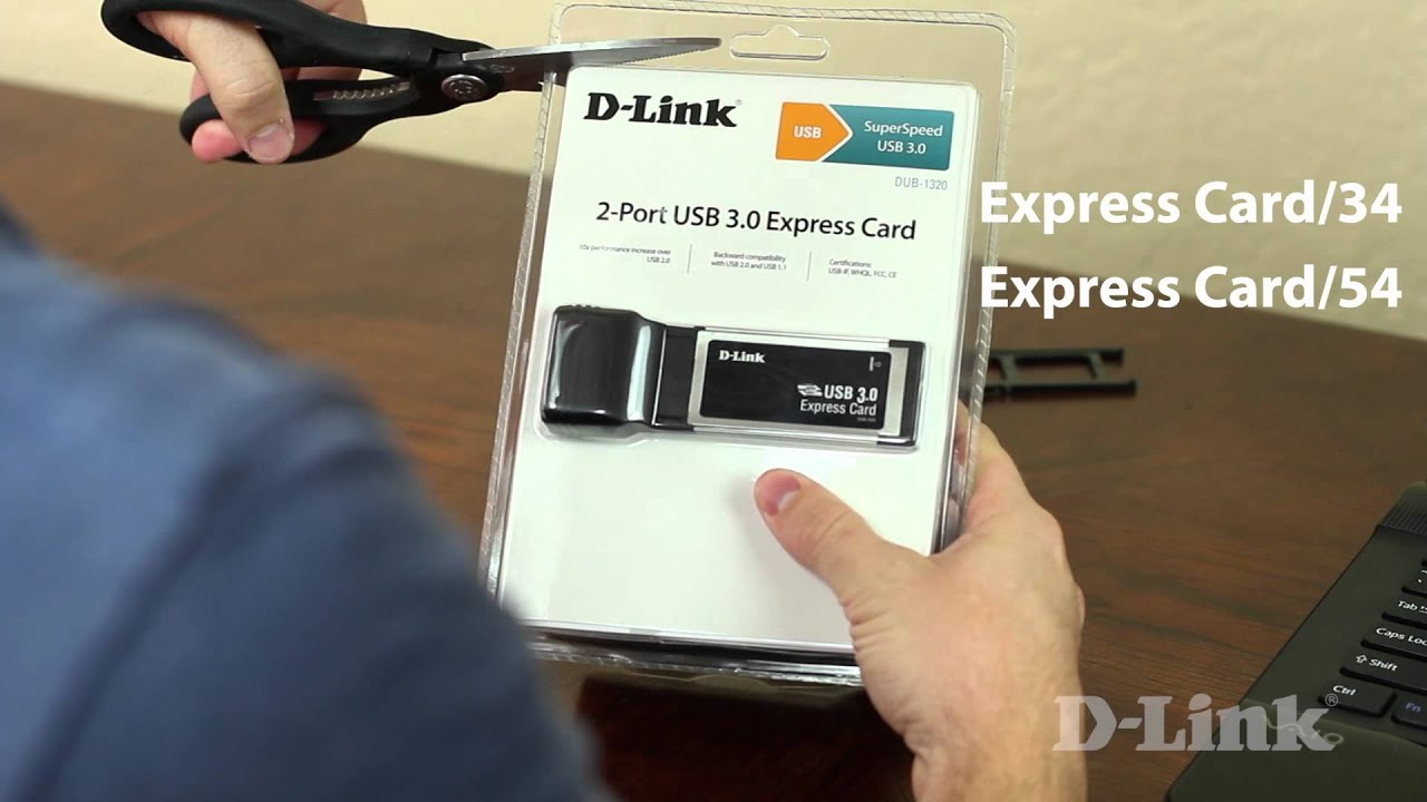 Getting Started: 2-Port USB 3.0 Express Card (DUB-1320) - YouTube