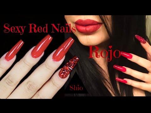 Scarlet Red Nails  Escarlata