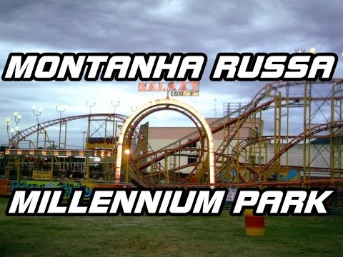 Montanha Russa - Millennium Park (On Ride) Guarulhos - Sp