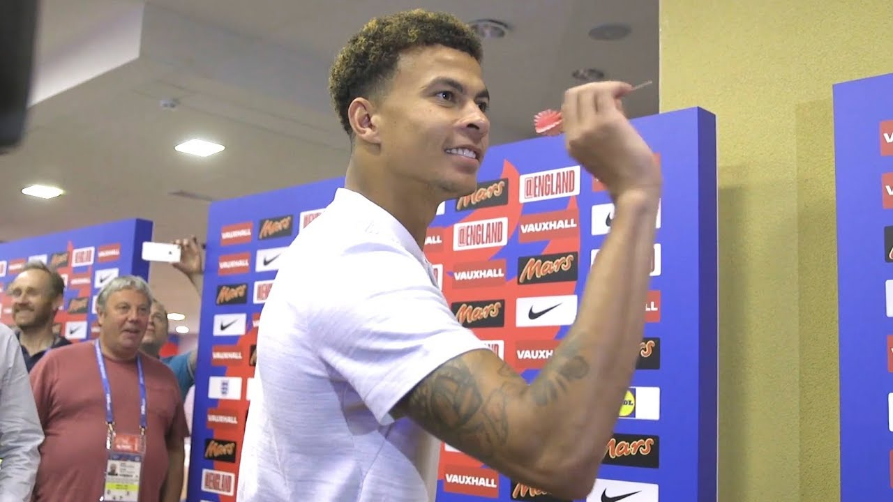 Dele Alli Plays Darts In World Cup Camp