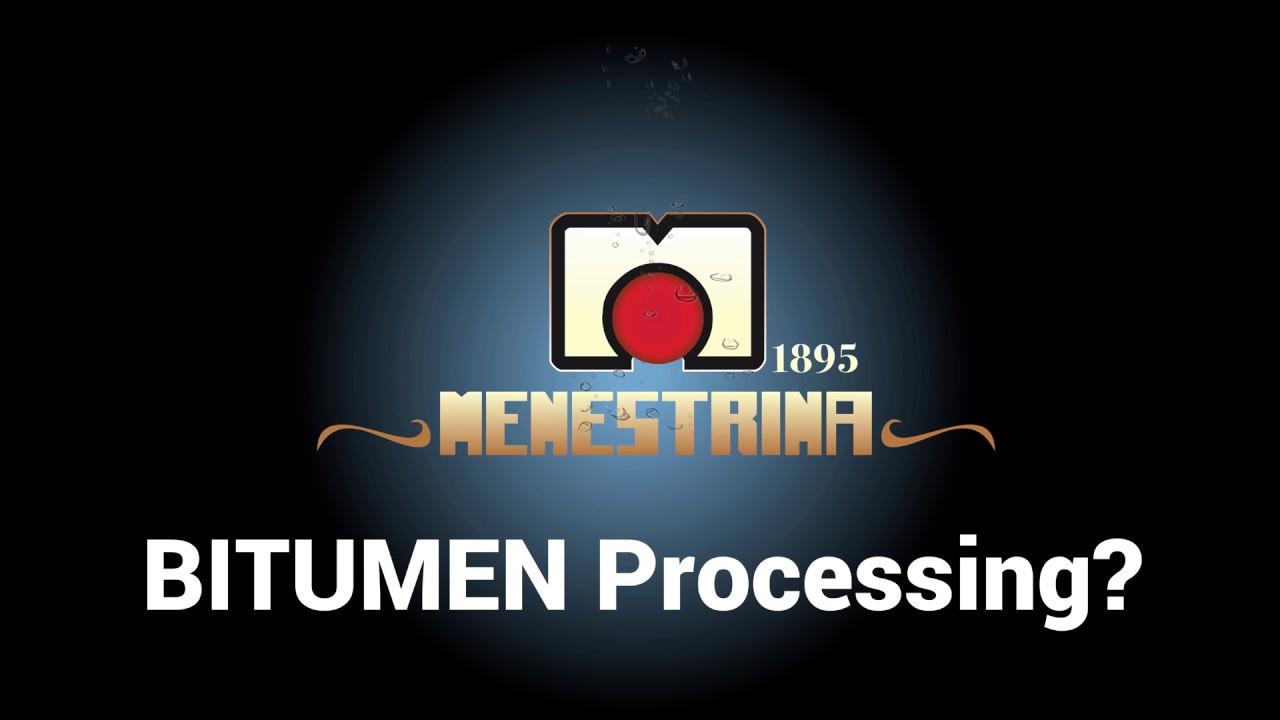 Bitimen, Bitumen Processing