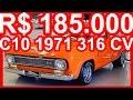 4K R$ 185.000 PASTORE Chevrolet C10 1971 MT3 Álcool 316 cv #CHEVROLET