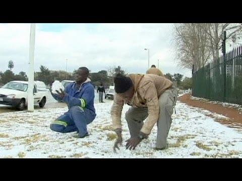 Schnee in Südafrika