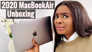 """2020 13"""" GREY MACBOOK AIR UNBOXING! 