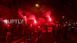 Spain: Falangists march on anniversary giving Nazi salute