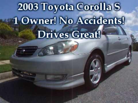 2003 toyota corolla s for sale youtube rh youtube com 2003 Toyota Corolla Starter Location 2003 Toyota Corolla Custom