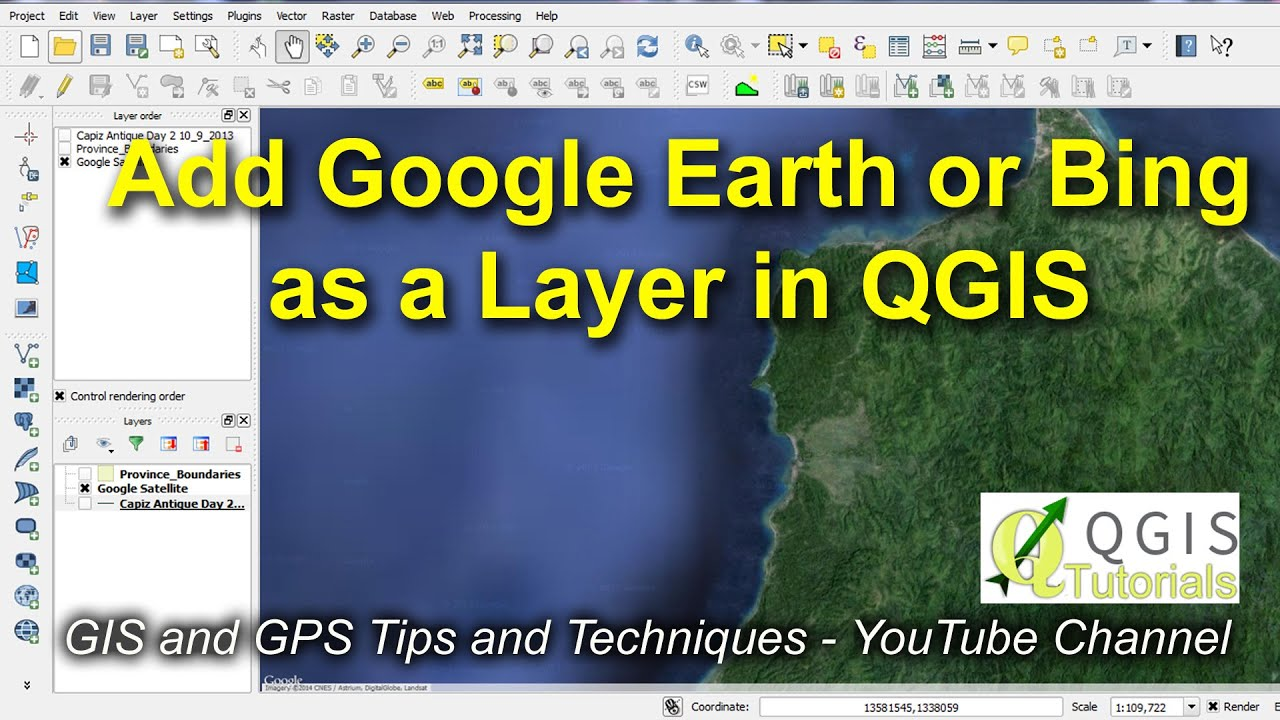 Bing Karte.Open Google Earth Or Bing As A Layer In Qgis