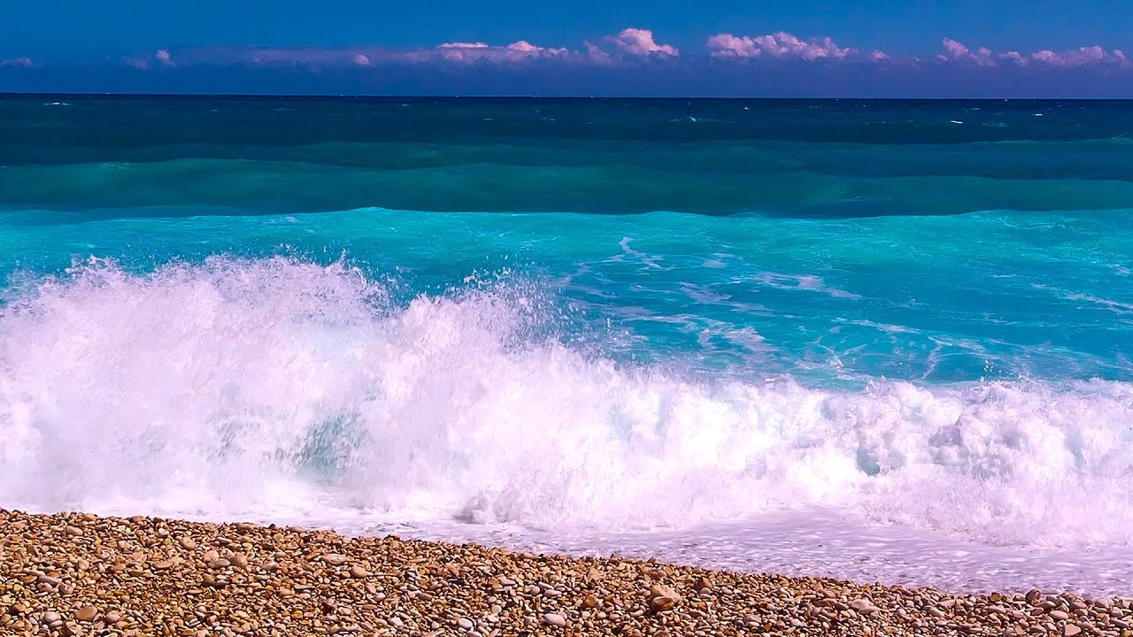 Calming Ocean Sounds To Brighten Your Day Relaxing Waves From Barahona Youtube