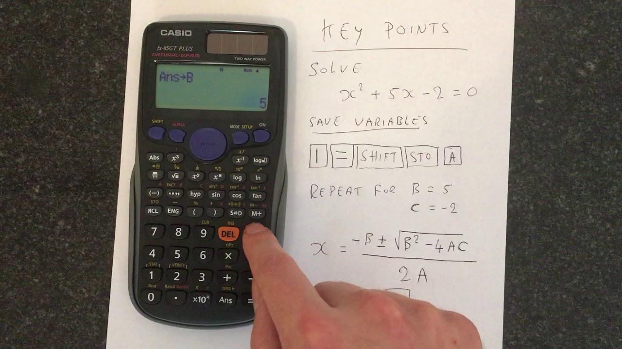 How to solve Quadratic Equations on a Casio Calculator (FX-85GT Plus)