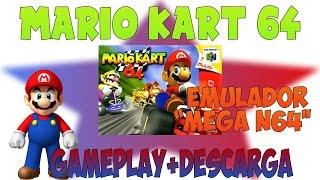 Mega N64 Emulador// Mario Kart 64 #1// Gameplay + Descarga