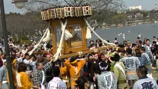 まつり巡行記<申>2015年3月22日 水戸神輿連合会さま仕切りにより常盤...