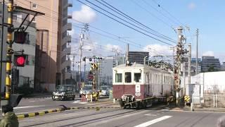 ことでんレトロ電車500形120形 1080形 京急ラッピング車 本町踏切2019.02.10