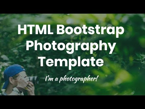 Bootstrap Photography Template - Free HTML Website Templates
