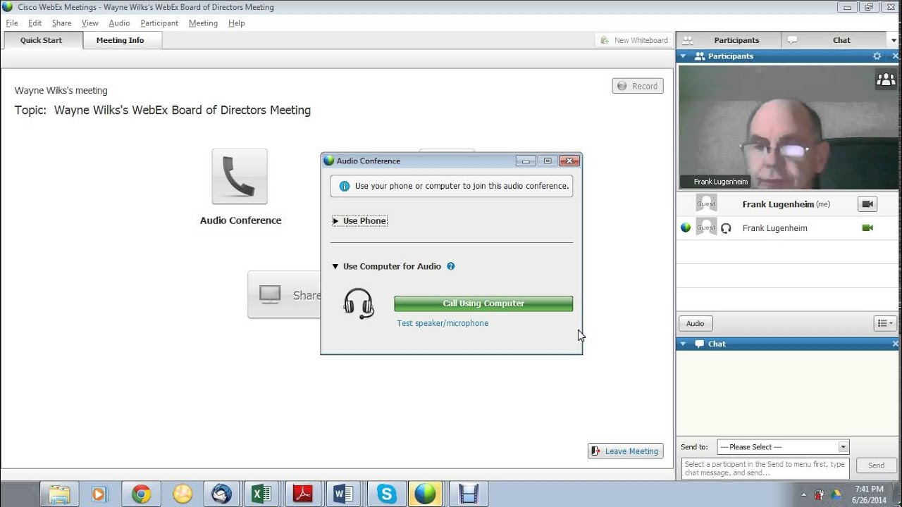 Webex Cisco Online Meeting Participant Attendee Training Video