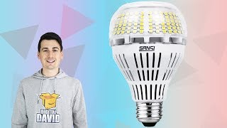 SANSI A21 30W LED Light Bulb Review // 500 Watt LED Bulb Daylight