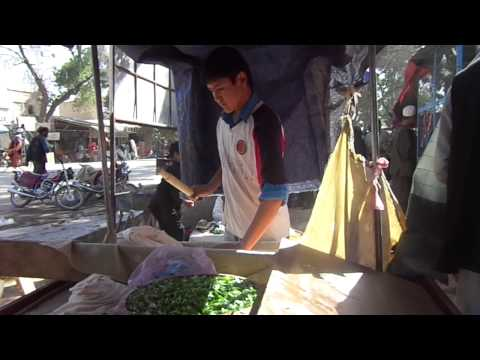 Street food preparation in Balkh Afghanistan