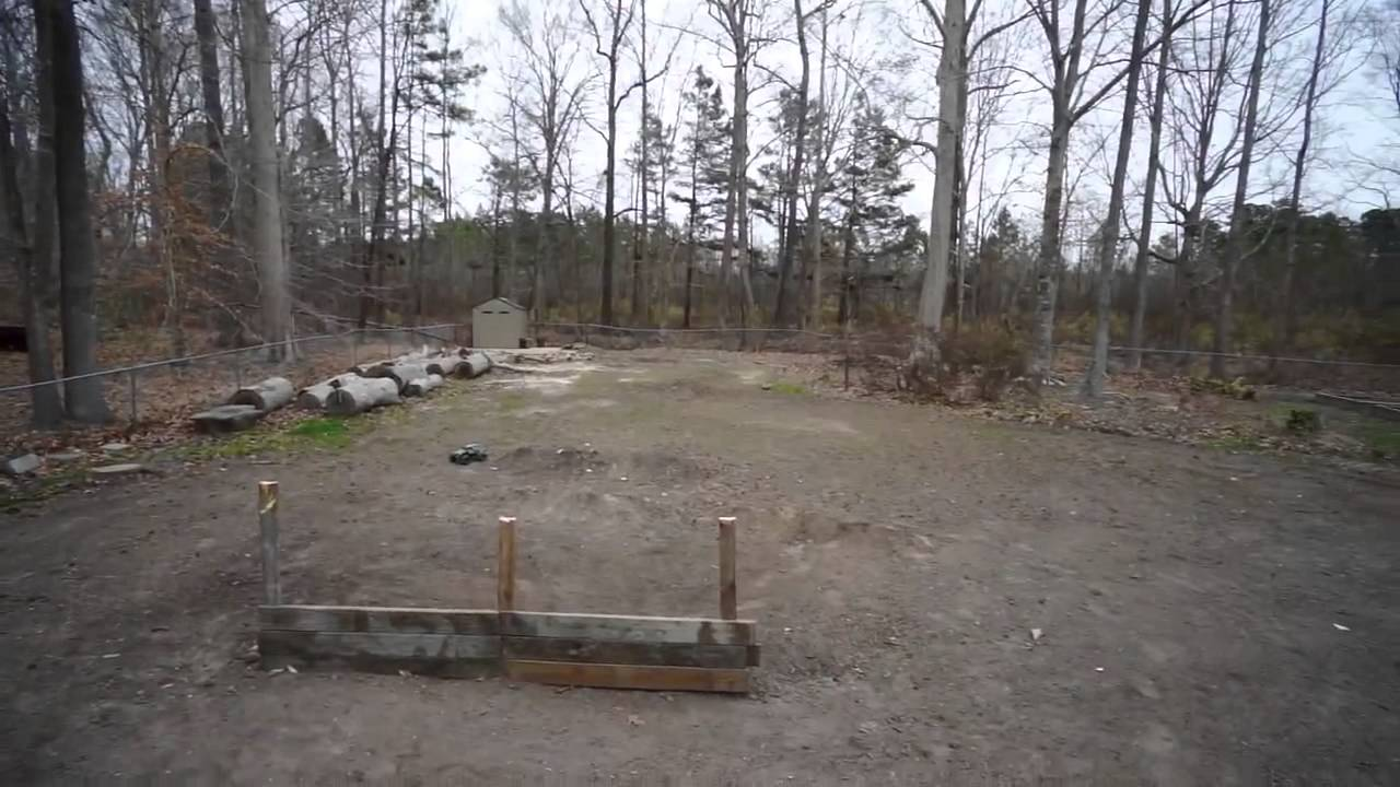 building my first backyard rc track youtube