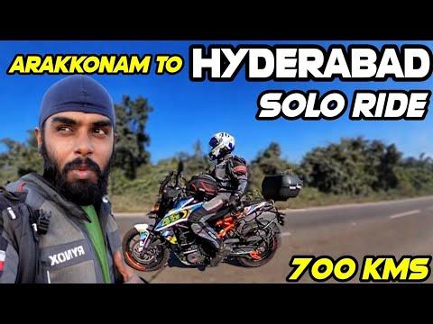 Solo Ride Day 1 - Arakkonam To Hyderabad In Duke 250 | 700 KMS | Prosti**tes On Highway| Drone Shots