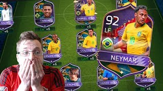 Every FIFA Mobile 18 Brazil Rewards Pack Opening! Winning the World Cup With Brazil | 92 OVR Neymar