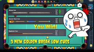 3 new golden break low cues | 8 ballpool miniclip