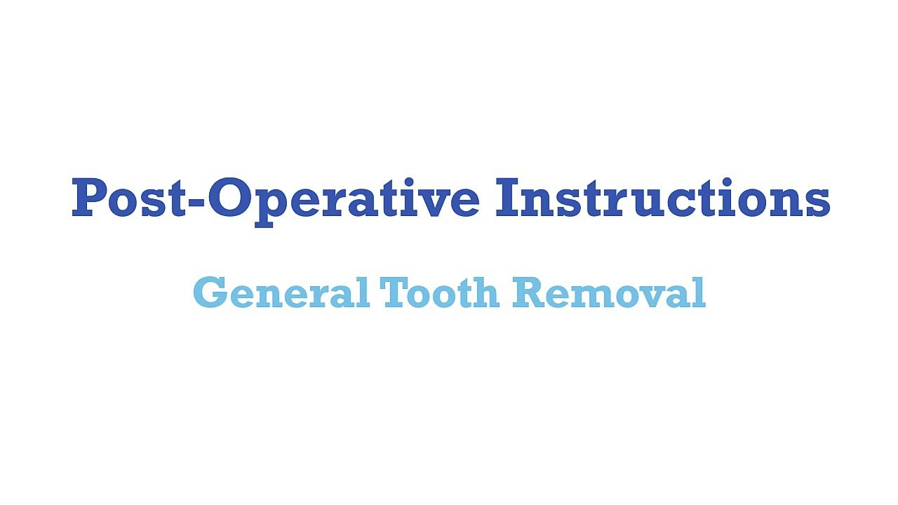 Post Op General Extraction In Fort Worth Tx North Tarrant Oral