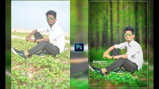 Photoshop CC - Background Change and Photo Retouch Tutoria in tamil