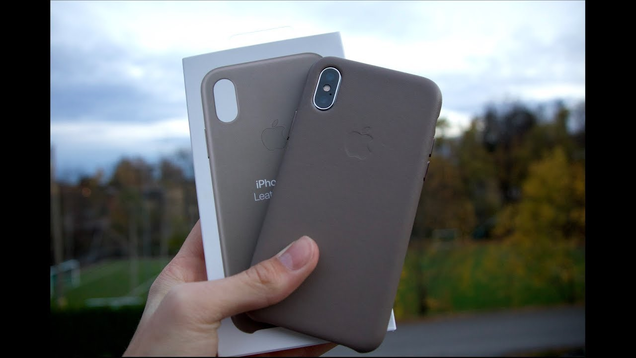 ec94ac1492 iPhone xs leather case taupe - YouTube
