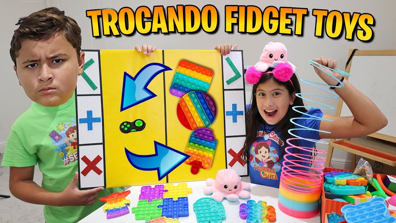 TROCA DE FIDGET TOYS | TROCANDO FIDGET TOYS  MARIA CLARA E JP | Fidget trading
