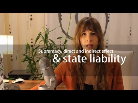 EU supremacy, direct and indirect effect and state liability