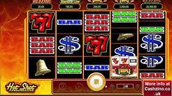 Hot Shot Progressive video slot - Bally casino game with Jackpot