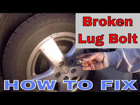 How to replace a broken wheel stud (lug bolt)