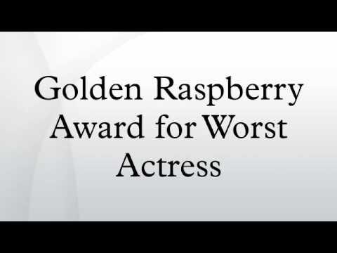 Golden Raspberry Award for Worst Actress