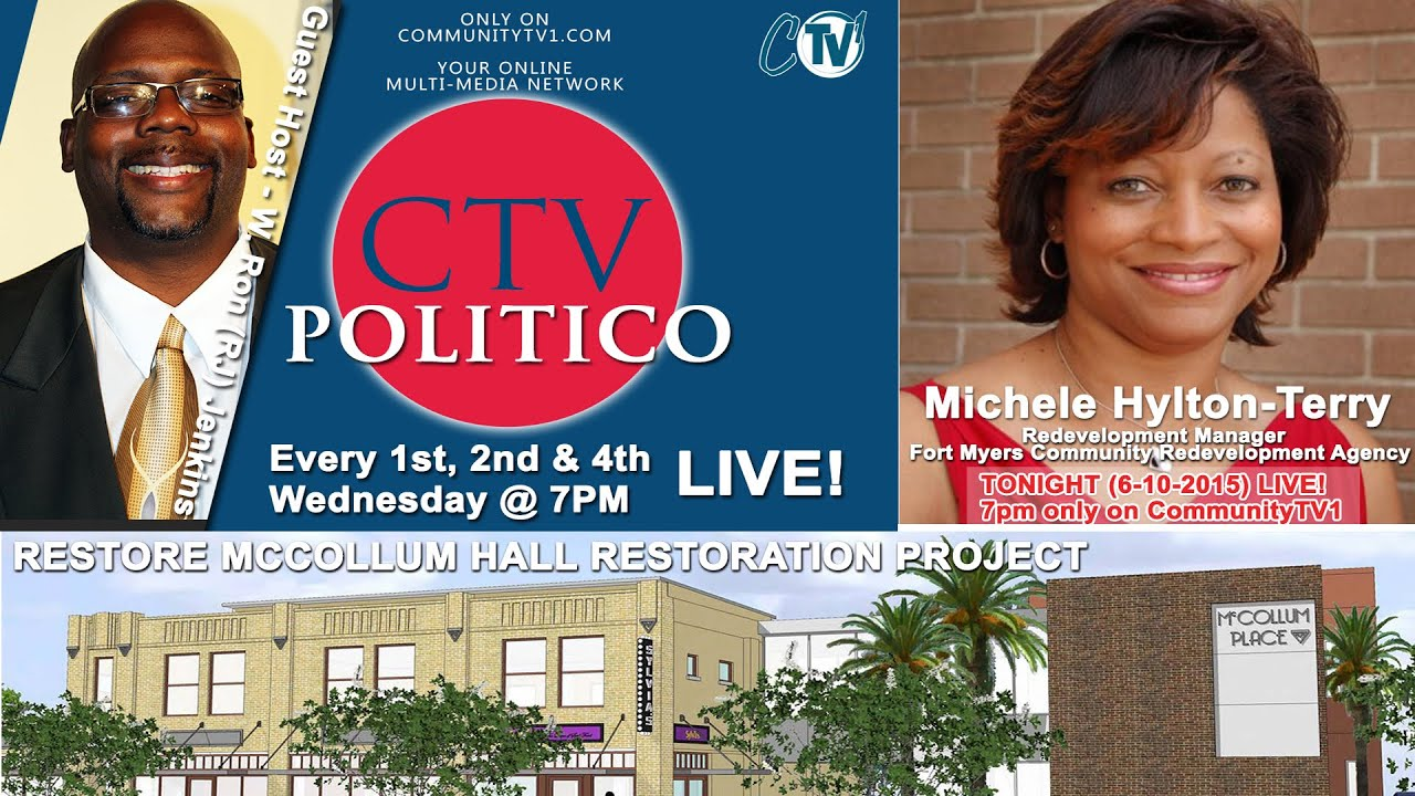 6-10-2015 CTV POLITICO - Michele Hylton-Terry - Restore McCollum Hall Project