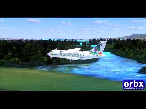 FSX - ATR 42-600 Air Antilles Express Landing Guadeloupe HD !
