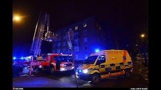Zásah hasičů u požáru střechy, Ostrava-Poruba, 7.3.2018