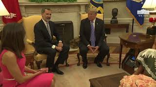 President Trump Meets with Their Majesties King Felipe VI and Queen Letizia of Spain 6/19/2018