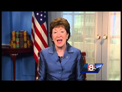 Sen. Susan Collins reacts to Pope