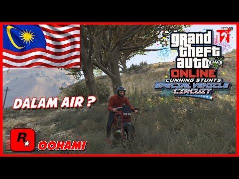 GTA 5 Online (Malaysia) || SPECIAL CUNNING STUNTS RACE - LUMBA KERETA DALAM AIR ?!! WOW XD