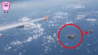 From a UFO caught on the BBC News to a flying object dropping glowi...