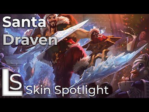 Santa Draven - Skin Spotlight - League of Legends - Snowdown Showdown collection