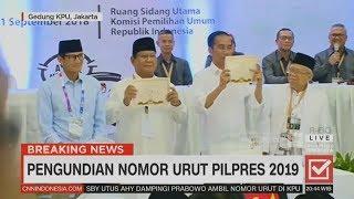 Jokowi-Ma'ruf No.1, Prabowo-Sandi No.2   Penetapan Nomor Urut Pilpres 2019